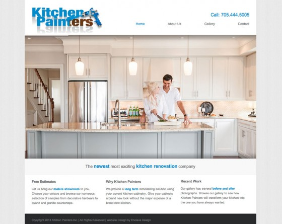 Kitchen Painters website design