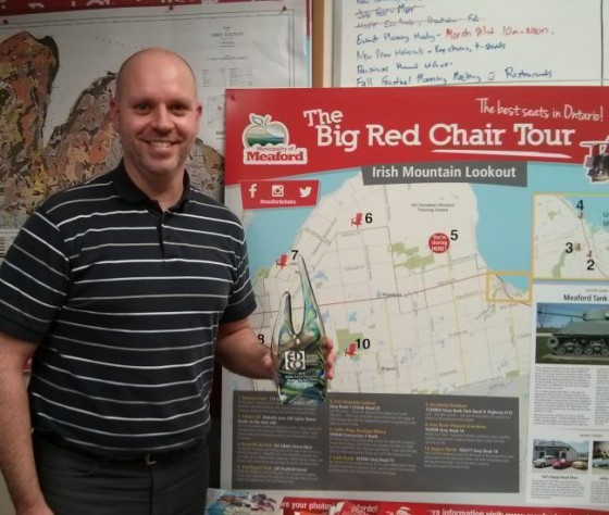 Stephen Murray, Meaford Economic Development Officer, shows off the EDCO for tourism marketing.
